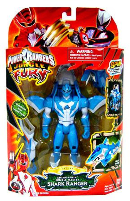 Power Rangers Jungle Fury Deluxe Animorphin Jungle Master Shark Ranger Action Figure
