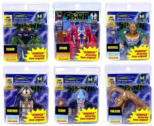 McFarlane Toys Spawn Kubrick Set of 6 Variant Minifigures