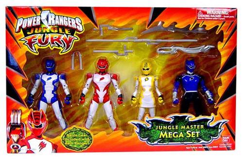 Power Rangers Jungle Fury Jungle Master Mega Set Action Figures