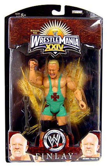 WWE Wrestling Road to WrestleMania 24 Series 3 Finlay Exclusive Action Figure