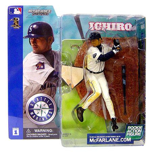 McFarlane Toys MLB Seattle Mariners Sports Picks Series 1 Ichiro Suzuki Action Figure [White Jersey Dirty Variant]