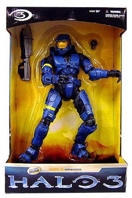 McFarlane Toys Halo 3 Deluxe Mark VI Spartan Soldier Exclusive 12 Inch Action Figure [Blue]