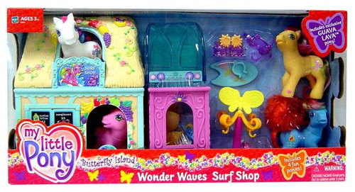My Little Pony Butterfly Island Wonder Waves Surf Shop Exclusive Figure Playset