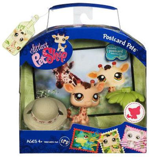 Littlest Pet Shop Postcard Pets Series 1 Giraffe Figure