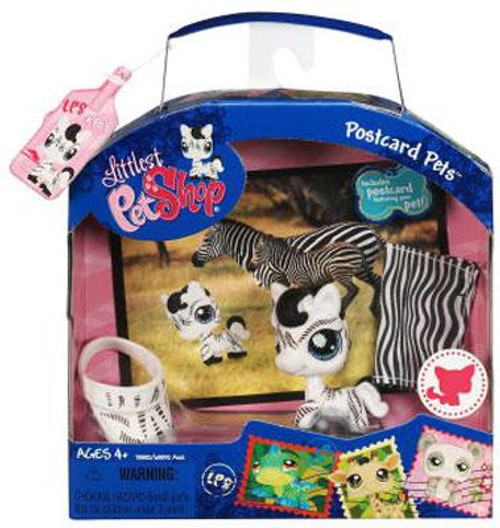 Littlest Pet Shop Postcard Pets Series 1 Zebra Figure
