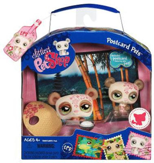 Littlest Pet Shop Postcard Pets Series 1 Panda Figure