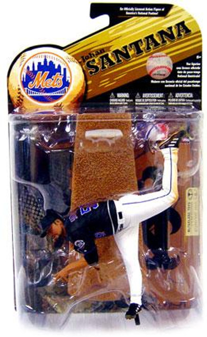 McFarlane Toys MLB New York Mets Sports Picks Series 24 Johan Santana Action Figure [Black Jersey]