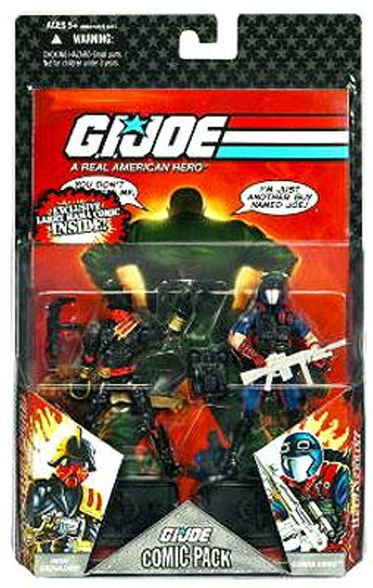GI Joe 25th Anniversary Wave 7 Comic Pack Iron Grenadier & Viper Action Figure 2-Pack