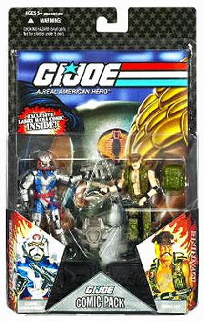 GI Joe 25th Anniversary Wave 7 Comic Pack Gung-Ho & Cobra Commander Action Figure 2-Pack