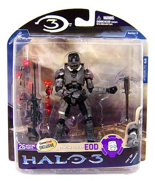 McFarlane Toys Halo 3 Series 3 Spartan Soldier EOD Exclusive Action Figure [Steel]