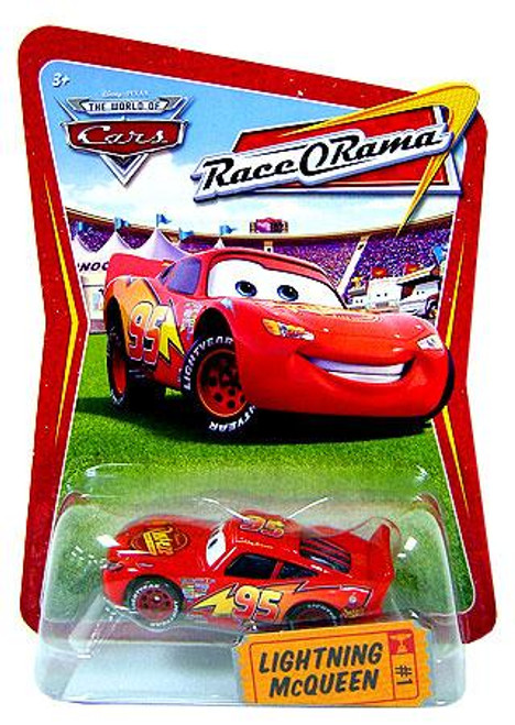Disney Cars The World of Cars Race-O-Rama Lightning McQueen Diecast Car #1