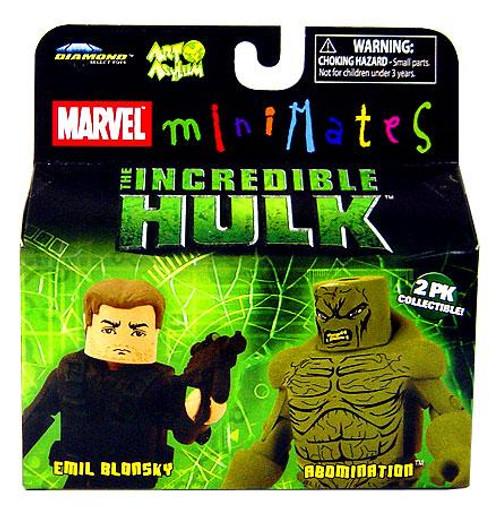 Marvel Minimates The Incredible Hulk Emil Blonsky & Abomination Minifigure 2-Pack