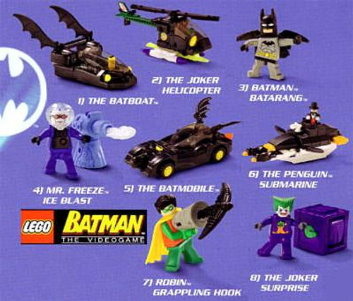 Happy Meal Set of 8 LEGO Batman Figures