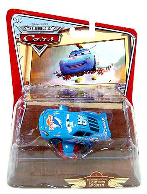 Disney Cars The World of Cars Deluxe Oversized Lightning Storm McQueen Diecast Car #1 [Random Package]