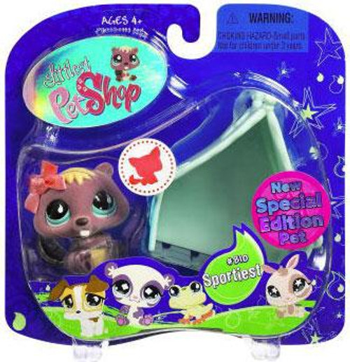 Littlest Pet Shop 2009 Assortment A Series 2 Beaver Figure #810 [Hollow Tree]