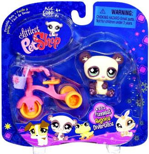 Littlest Pet Shop 2009 Assortment B Series 1 Panda Figure #822 [Tricycle]