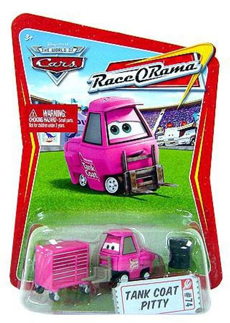 Disney Cars The World of Cars Race-O-Rama Tank Coat Pitty Diecast Car #74