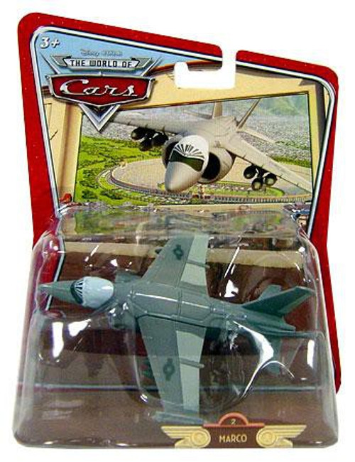 Disney Cars The World of Cars Deluxe Oversized Marco F/AV-18 Jet Diecast Car #2 [Random Package]