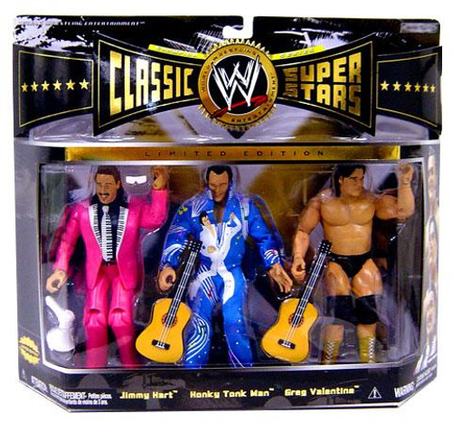 WWE Wrestling Classic Superstars Limited Editions Rythm & Blues [Jimmy Hart, Honky Tonk Man & Greg Valentine] Action Figure 3-Pack