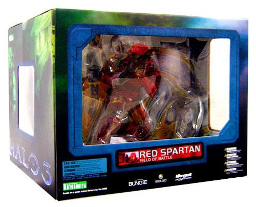 Halo 3 ArtFX Red Spartan 11-Inch Statue Figure [Field of Battle]