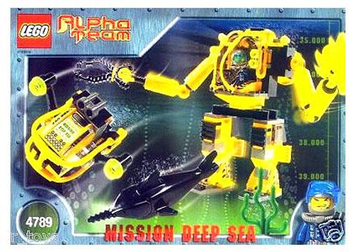 LEGO Alpha Team Mission Deep Sea Deep Sea Aquatic Mech Factory Set #4789