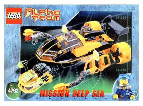 LEGO Alpha Team Mission Deep Sea Navigator and ROV Set #4792