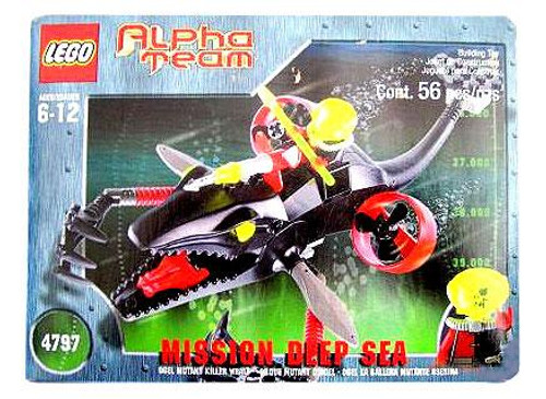 LEGO Alpha Team Mission Deep Sea Ogel Mutant Killer Whale Set #4797