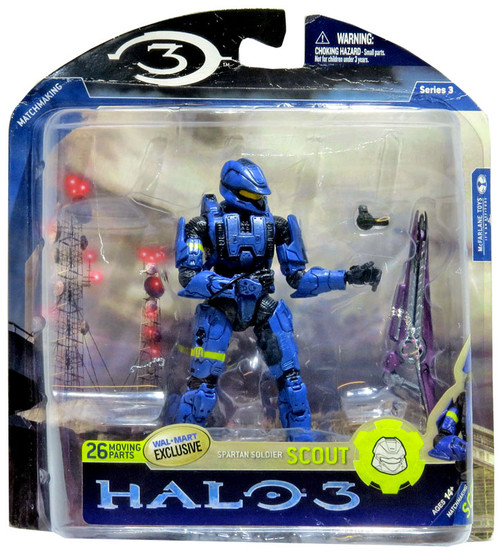 McFarlane Toys Halo 3 Series 3 Spartan Soldier Scout Exclusive Action Figure [Blue]