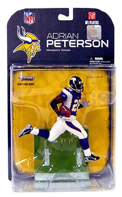 McFarlane Toys NFL Minnesota Vikings Sports Picks Series 18 Adrian Peterson Action Figure [Black Wrist Tape Variant]