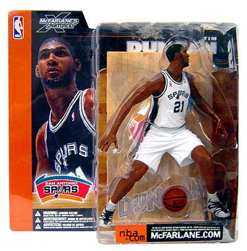 McFarlane Toys NBA San Antonio Spurs Sports Picks Series 1 Tim Duncan Action Figure [White Jersey Variant]