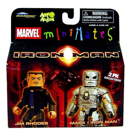 Marvel Minimates Iron Man Movie Jim Rhodes & Mark I Iron Man Minifigure 2-Pack