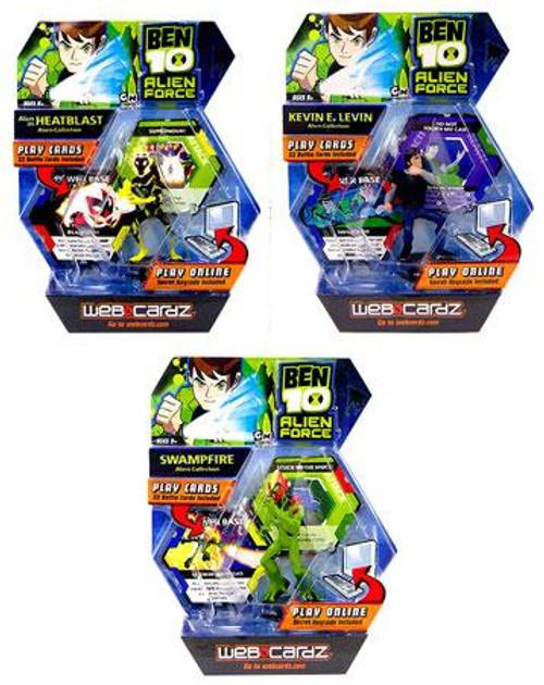 Ben 10 Alien Force Set of 3 Web Cardz Starter Sets
