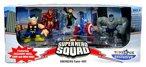 Marvel Super Hero Squad Avengers Face-Off Exclusive Action Figure Set