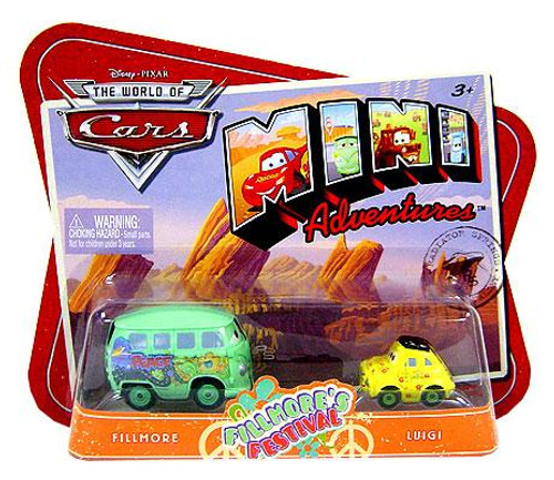 Disney Cars The World of Cars Mini Adventures Fillmore's Festival Plastic Car 2-Pack [Fillmore & Luigi]