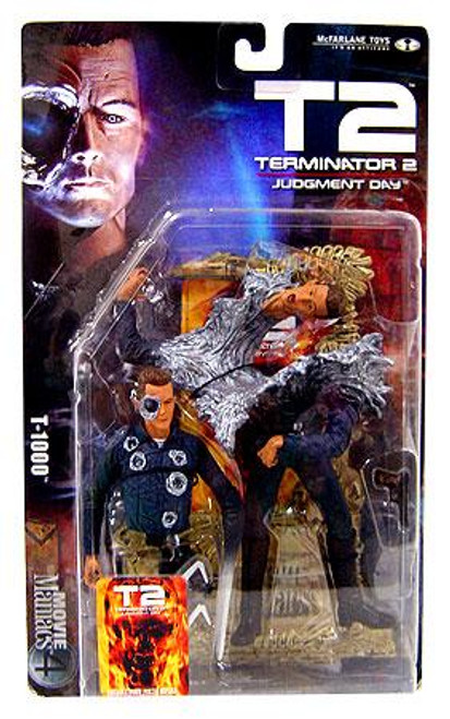 McFarlane Toys The Terminator Terminator 2 Judgment Day Movie Maniacs Series 4 T-1000 Action Figure