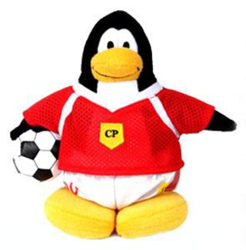 Club Penguin Series 1 Boy Soccer Player 6.5-Inch Plush Figure [Red Jersey]
