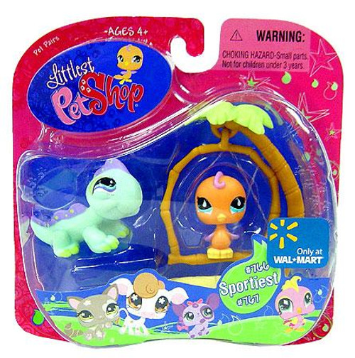 Littlest Pet Shop Pet Pairs Iguana & Bird Exclusive Figure 2-Pack #766, 767