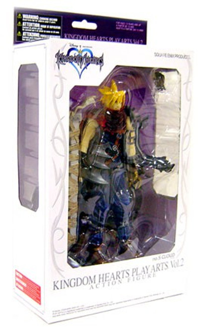 Disney Kingdom Hearts 2 Play Arts Kai Cloud Strife Action Figure [Agrabah]