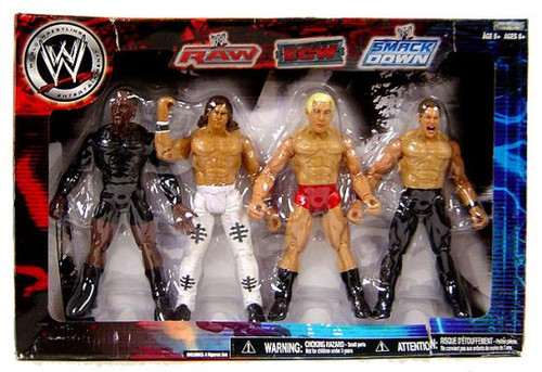WWE Wrestling Exclusives RAW, ECW & Smackdown Superstars Exclusive Action Figure 4-Pack [Set #1]