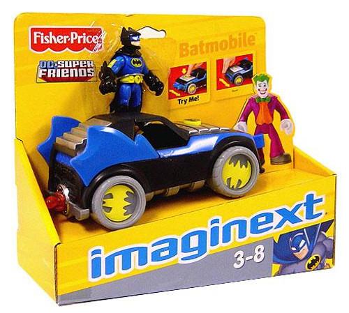 Fisher Price DC Super Friends Batman Imaginext Batmobile 3-Inch Figure Set