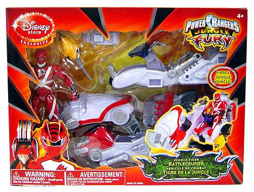 Power Rangers Jungle Fury Jungle Tiger Battlecruiser Exclusive Action Figure Vehicle