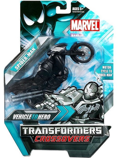 Marvel Transformers Crossovers Spider-Man Action Figure [Black Costume]