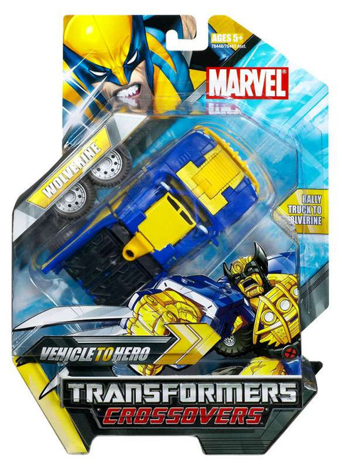 Marvel Transformers Crossovers Wolverine Action Figure [Blue & Yellow]