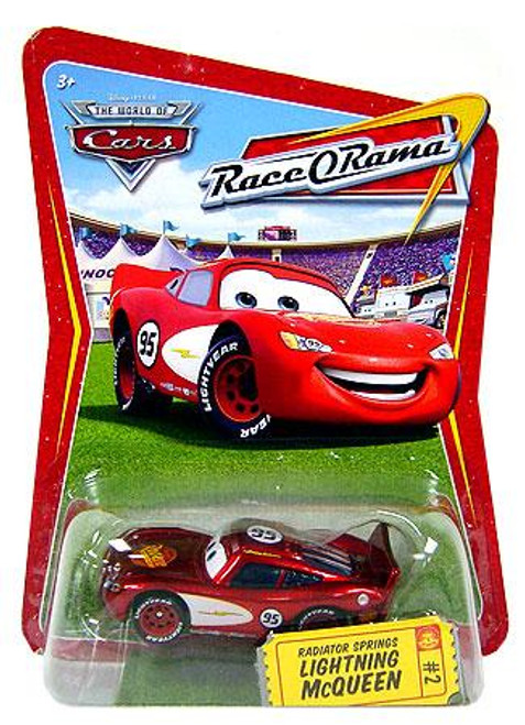Disney Cars The World of Cars Race-O-Rama Radiator Springs Lightning McQueen Diecast Car #2
