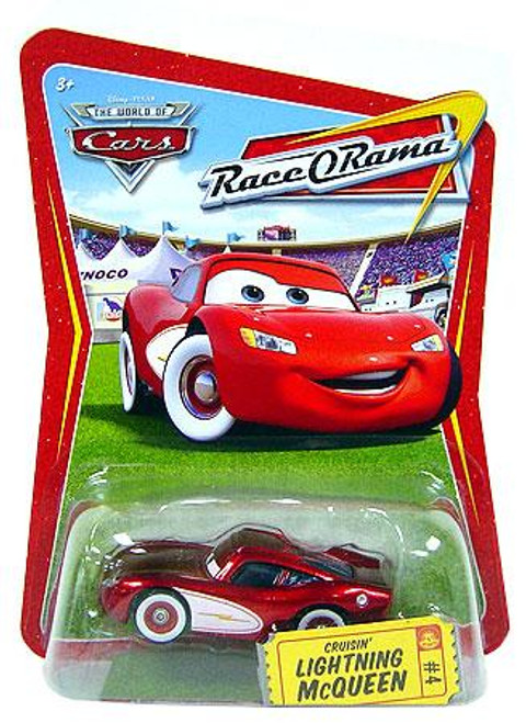 Disney Cars The World of Cars Race-O-Rama Cruisin' Lightning McQueen Diecast Car #4