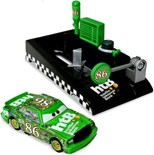 Disney Cars Pit Row Race-Off Chick Hicks Diecast Car [Includes Launcher]