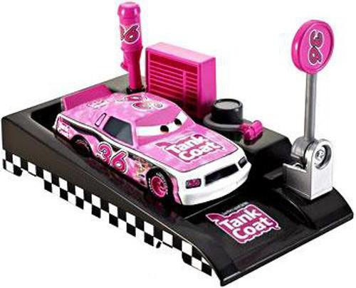 Disney Cars Pit Row Race-Off Tank Coat No. 36 Diecast Car [Includes Launcher]