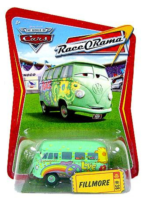 Disney Cars The World of Cars Race-O-Rama Fillmore Diecast Car #38