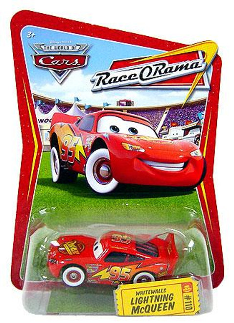 Disney Cars The World of Cars Race-O-Rama Whitewalls Lightning McQueen Diecast Car #110