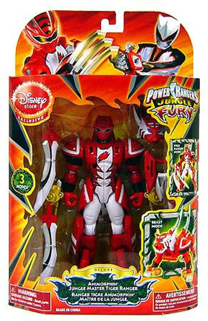 Power Rangers Jungle Fury Deluxe Animorphin Jungle Master Tiger Ranger Exclusive Action Figure